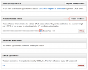 Screenshot of GitHub's Application Settings